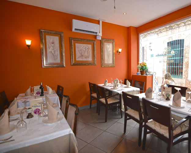 Inside the Goa Town Indian Restaurant in Nerja